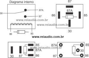 Diagrama de reles para desbloqueio de imagem