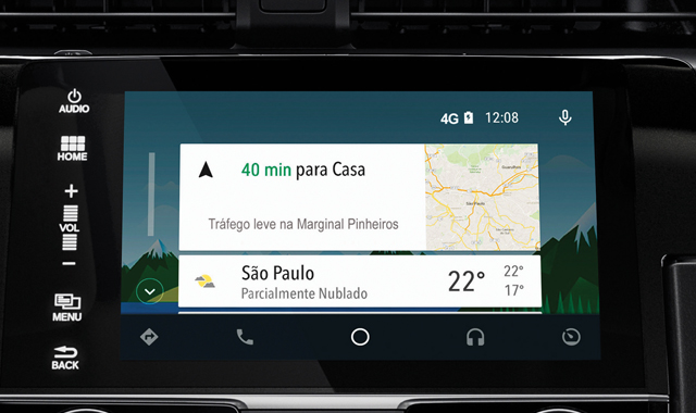 android auto central multimidia civic 10