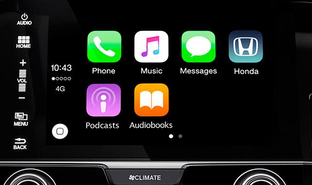 Apple Carplay central multimidia civic 10