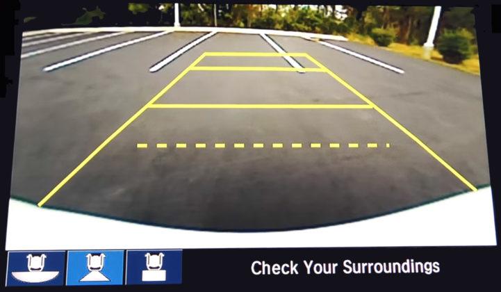 visão camera de ré civic 10