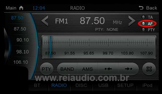 Problemas com rádio AM e FM em Centrais Multimídias 4
