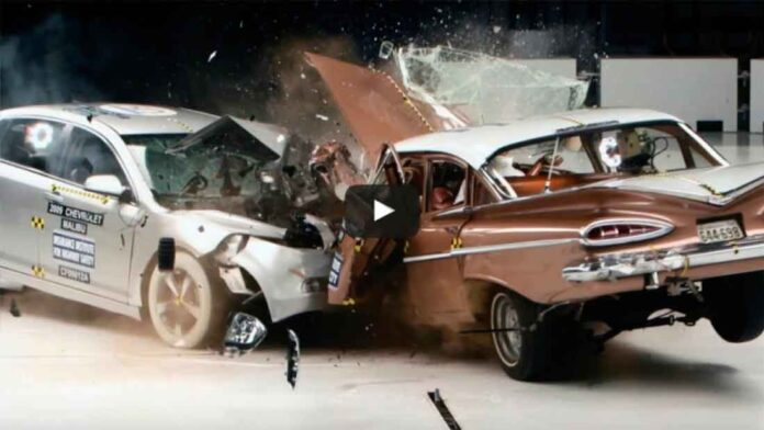 crash test old car