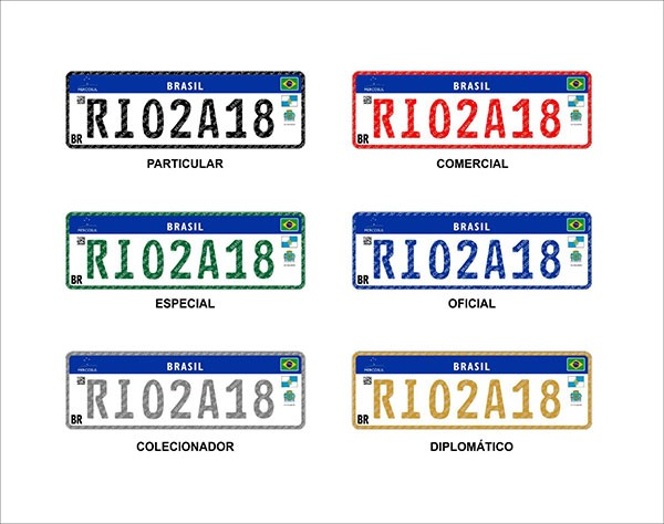 Novas Placas para Veículos padrão Mercosul 1