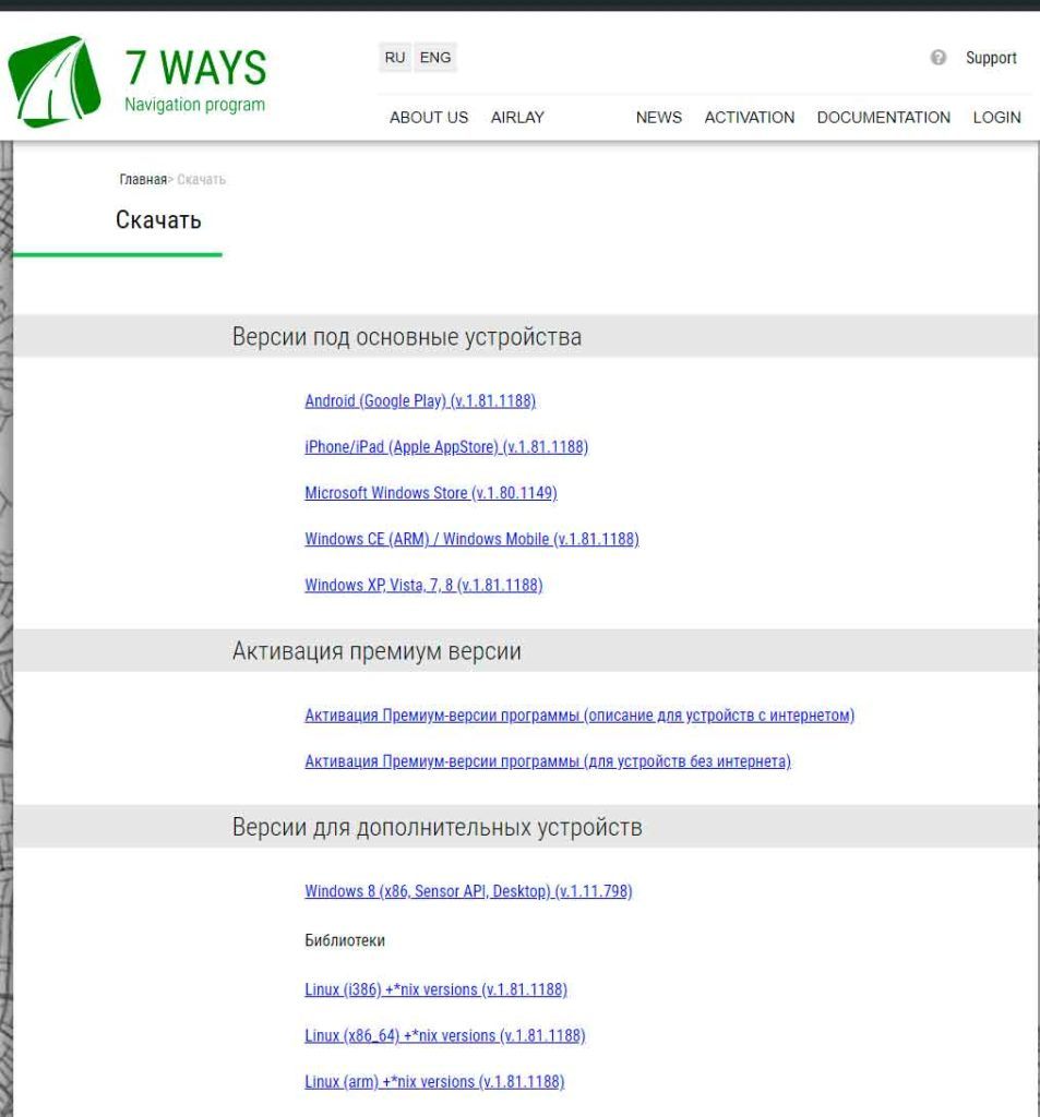 software de gps gratuito 7ways