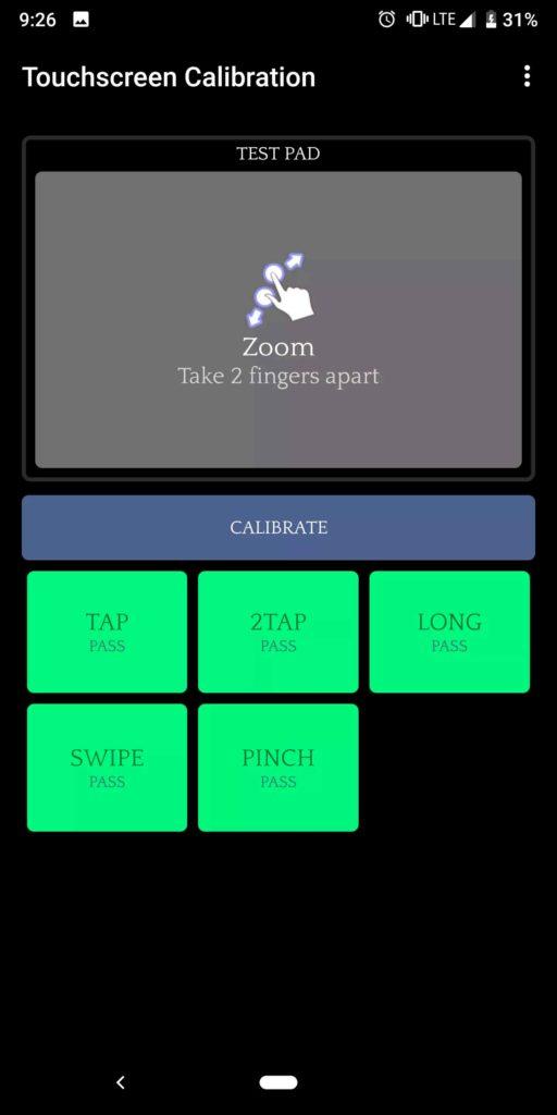 calibrar touch capacitivo