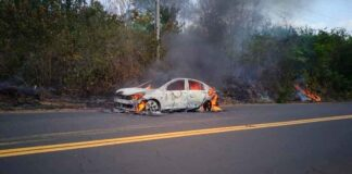 Onix plus pegando fogo