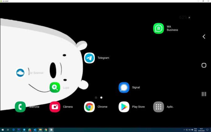 espelhamento windows android
