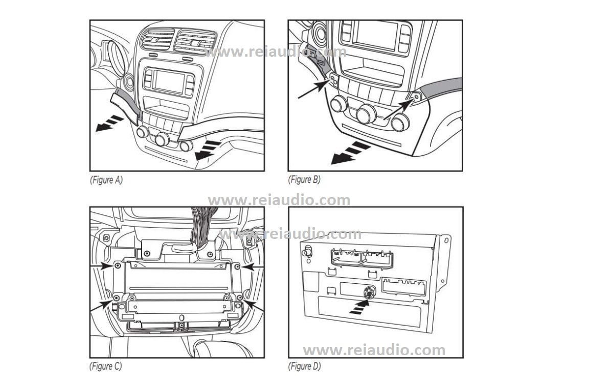 remover radio dodge journey e fiat freemont_1